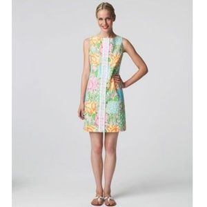 Lilly Pulitzer Rare Worth Shift Shell Patch Dress